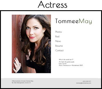 Tommee May, actress